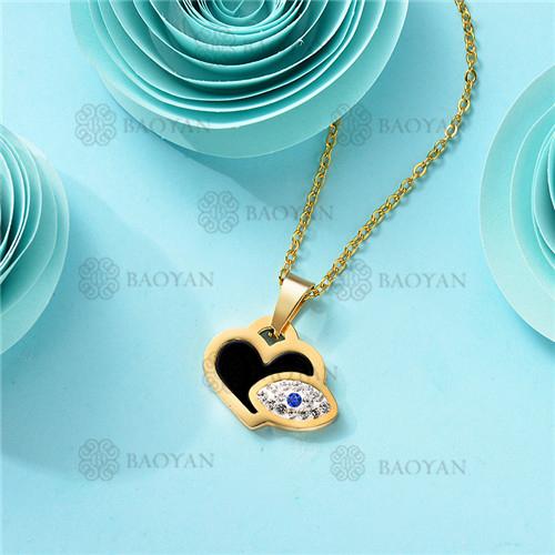 Collar de Acero Inoxidable para Mujer -SSNEG143-11363