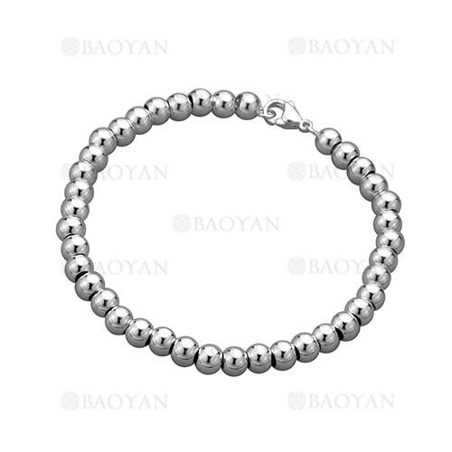 pulsera de bolitas de plateado para mujer-BRBTG28478