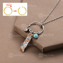 Collar DIY de Aros Movil con Charms en Acero Inoxidable -SSNEG142-12510