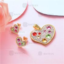conjunto de corazon  en acero inoxidable-SSSTG07-8244