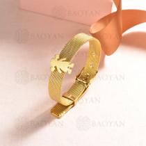 pulsera de charm en acero inoxidable para mujer -SSBTG142-16134-G