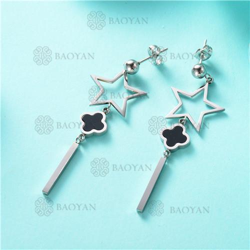 pendientes de estrellas en acero inoxidable-SSEGG80-7872