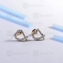 pendientes de acero inoxidable -SSEGG143-14804-G