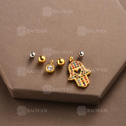 Conjunto de Charms DIY en Acero Inoxidable -SSSTG142-8499