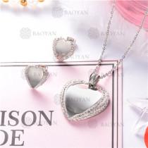 Conjunto de Joyas Acero inoxidable para mujer -SSNEG126-8870