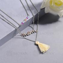 Collar de multi color en acero inoxidable -SSNEG142-14627