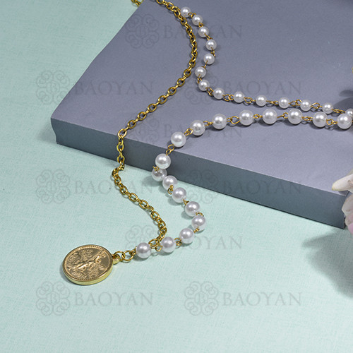 collar de multi capa en acero inoxidable -SSNEG142-16290