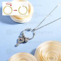 collar de multi color charm DIY en acero inoxidable -SSNEG142-14936