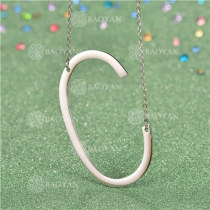Collar de Inicial Letra para MujerSSNEG81-4625