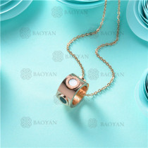 collar moda en acero inoxidable -SSNEG80-9898