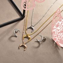 conjunto de collar y aretes en acero inoxidable -SSCSG126-15025