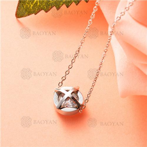 collar de acero inoxidable -SSNEG92-7460