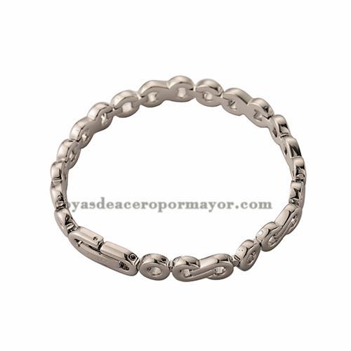 pulsera gruesa de acero inoxidable para caballeros -SSBTG652252