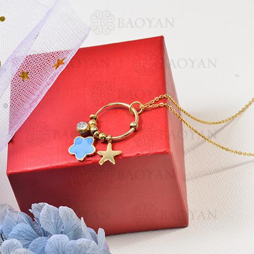 collar de charms DIY en acero inoxidable -SSNEG142-16255