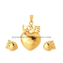 corazon con letra  love de juegos oro dorado mejores regalo para novia