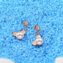 Aretes de Perlas de Acero Inoxidable -SSEGG143-9295