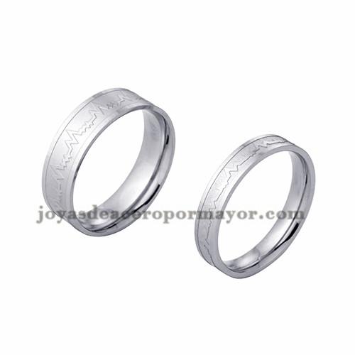 anillo de estilo moda plata en acero inoxidable para amantes -SSRGG971721
