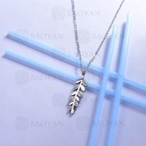 collar de acero inoxidable para mujer -SSNEG143-13096-S