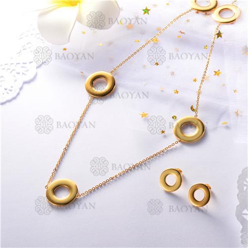 conjunto de dorado en acero inoxidable-SSNEG126-9909