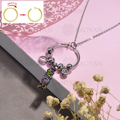 collar de DIY en acero inoxidable -SSNEG143-15490