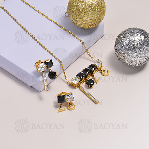 collar de acero inoxidable para mujer -SSCSG173-14740