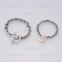 pulseras de pareja de moda de plateado en acero para pareja-SSBTG1125135