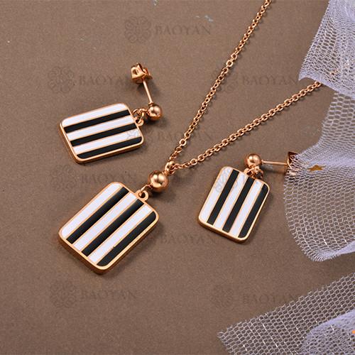 Conjunto de Collar de Acero Inoxidable -SSNEG80-12644