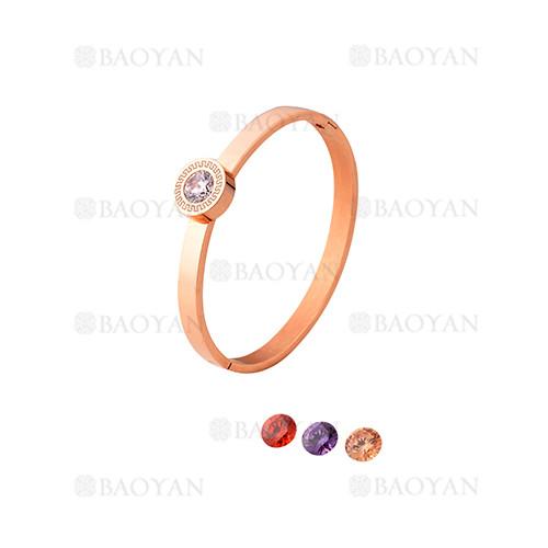 pulsera de moda con cristal de oro rosado en acero inoxidable-SSBTG1225020