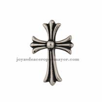 dije de santo cruz estilo moda en acero plateado inoxidable-SSPTG971040