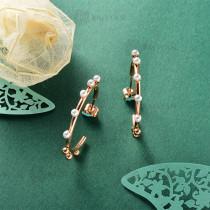 Aretes de Perla Imitacion en Acero Inoxidable -SSEGG143-9111