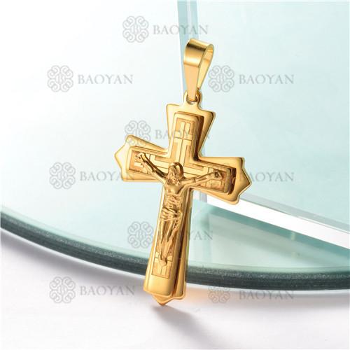dije de cruz para hombre en acero inoxidable-SSPTG07-2054