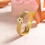 pulsera de charm en acero inoxidable para mujer -SSBTG142-16146-G