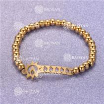 Pulsera con Bolitas Oro Dorado Para Mujer -SSBTG95-6303