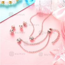 Conjunto de Joyas Acero inoxidable para mujer -SSNEG126-8910