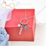 collar de charms DIY en acero inoxidable -SSNEG142-16237