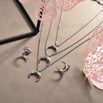 conjunto de collar y aretes en acero inoxidable -SSCSG126-15026