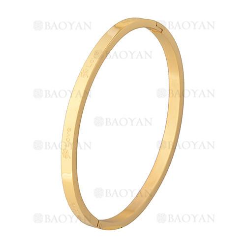 pulsera simple dorado en acero inoxidable -SSBTG1225529