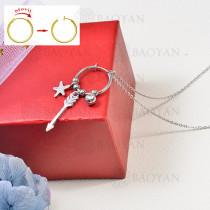 collar de charms DIY en acero inoxidable -SSNEG142-16256