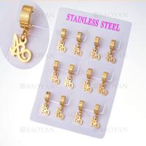 aretes con dije en acero de dorado para mujer-SSEGG385001