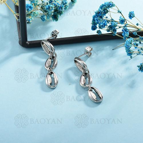 aretes de acero inoxidable para mujer -SSEGG126-14995