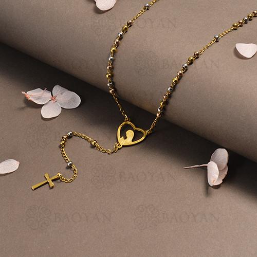 rosario en acero inoxidable -SSNEG95-16393
