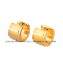 argollas 13mm estilo simple dorado en acero inoxidable -SSEGG384237