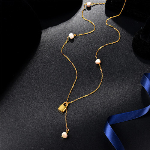 Collar de Multi-Capa en Acero Inoxidable -SSNEG142-8443