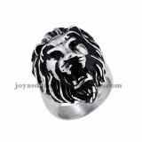 anillo de leon moda en acero plateado inoxidable -SSRGG971658
