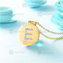 Collar de Acero Inoxidable -SSNEG143-9765