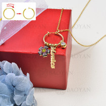 collar de charms DIY en acero inoxidable -SSNEG142-16241
