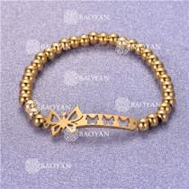 Pulsera con Bolitas Oro Dorado Para Mujer -SSBTG95-6277