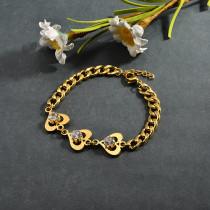 pulsera de acero inoxidable para mujer -SSBTG95-15268