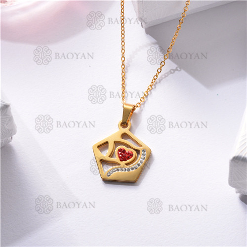 Collar Regalo para Novia en el Dia de Amor en Acero Inoxidable -SSNEG143-11334