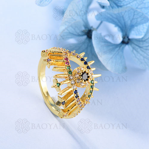 Anillo de Multi Color Zircon en Bronce -BRRGG155-103